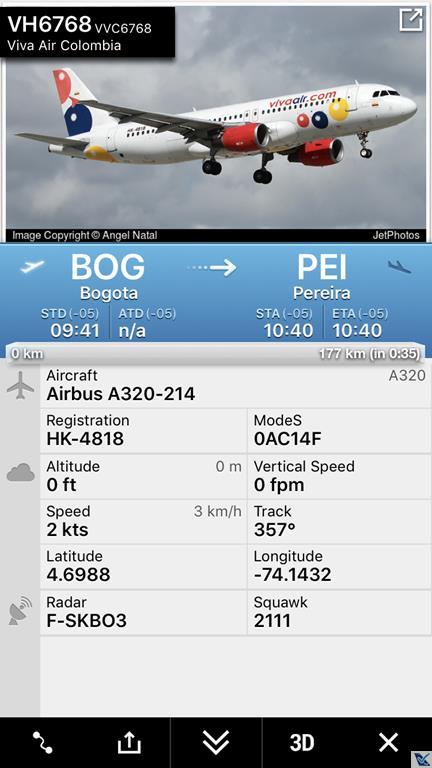 Flight Radar - A320 Vivaair (1)