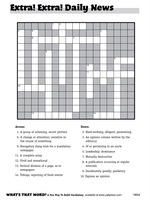 "giant crossword puzzle ""Extra! Extra!"""