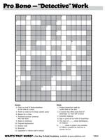 Detective Work Giant Crossword