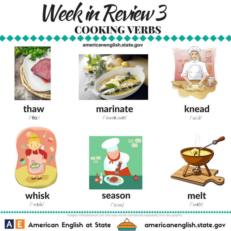 Cooking Verbs 2 Vocabulary Home