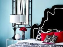 Black Teal Red And White Modern Bedding