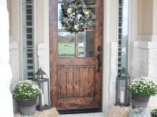 fall decor on front door