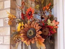 Fall Floral Front Door Decor