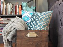 Living Room Blanket Storage Ideas