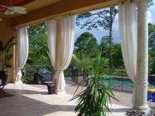 Outdoor Patio Drapes And Decor