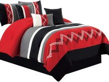 Red Black And White Queen Bedding