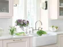 White Kitchen Window Curtains
