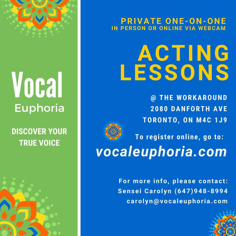Acting Lessons Private Lessons Carolyn Thompson Educate Euphoria Elation Enlighten Essentials Energize Intro