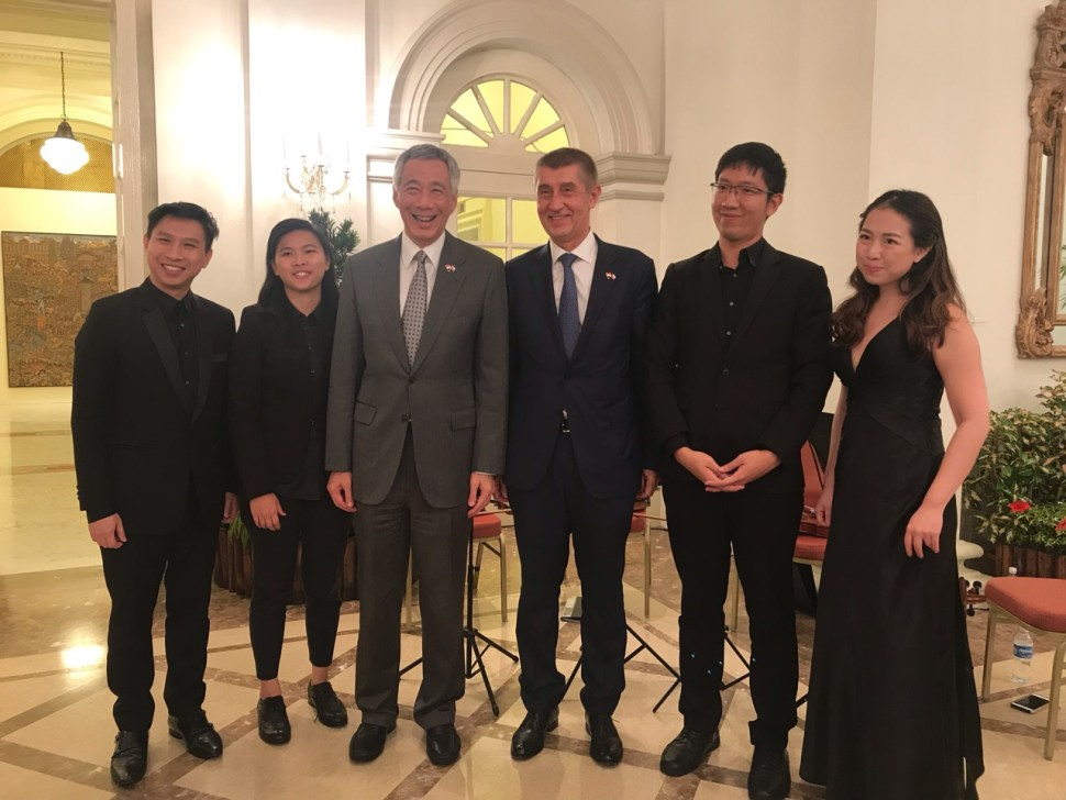 Vocalise String Quartet with Prime Minister Lee Hsien Loong & Prime Minister of the Czech Republic, Andrej Babiš