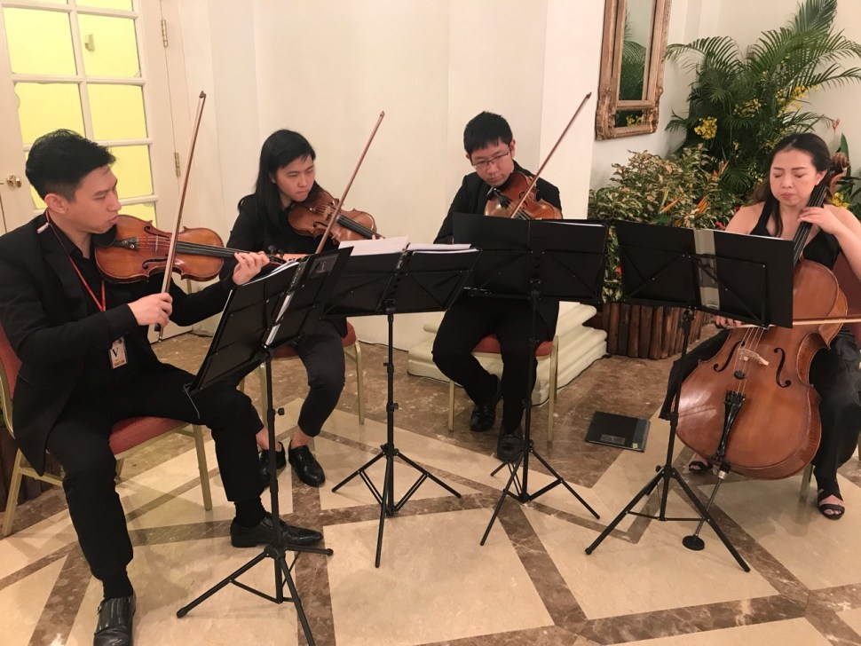 Vocalise String Quartet Singapore performing for Prime Minister Lee Hsien Loong at Official Dinner