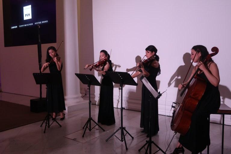 Amper quartet performing for PVH gig