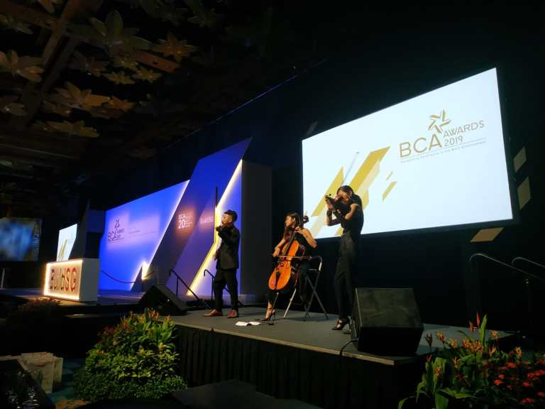VOX performing on stage at BCA Awards Night
