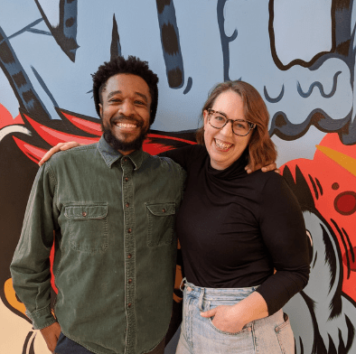 Chicago Poetry Center Executive Director Beth Sampson and Poet in Residence Frankeim Mitchell