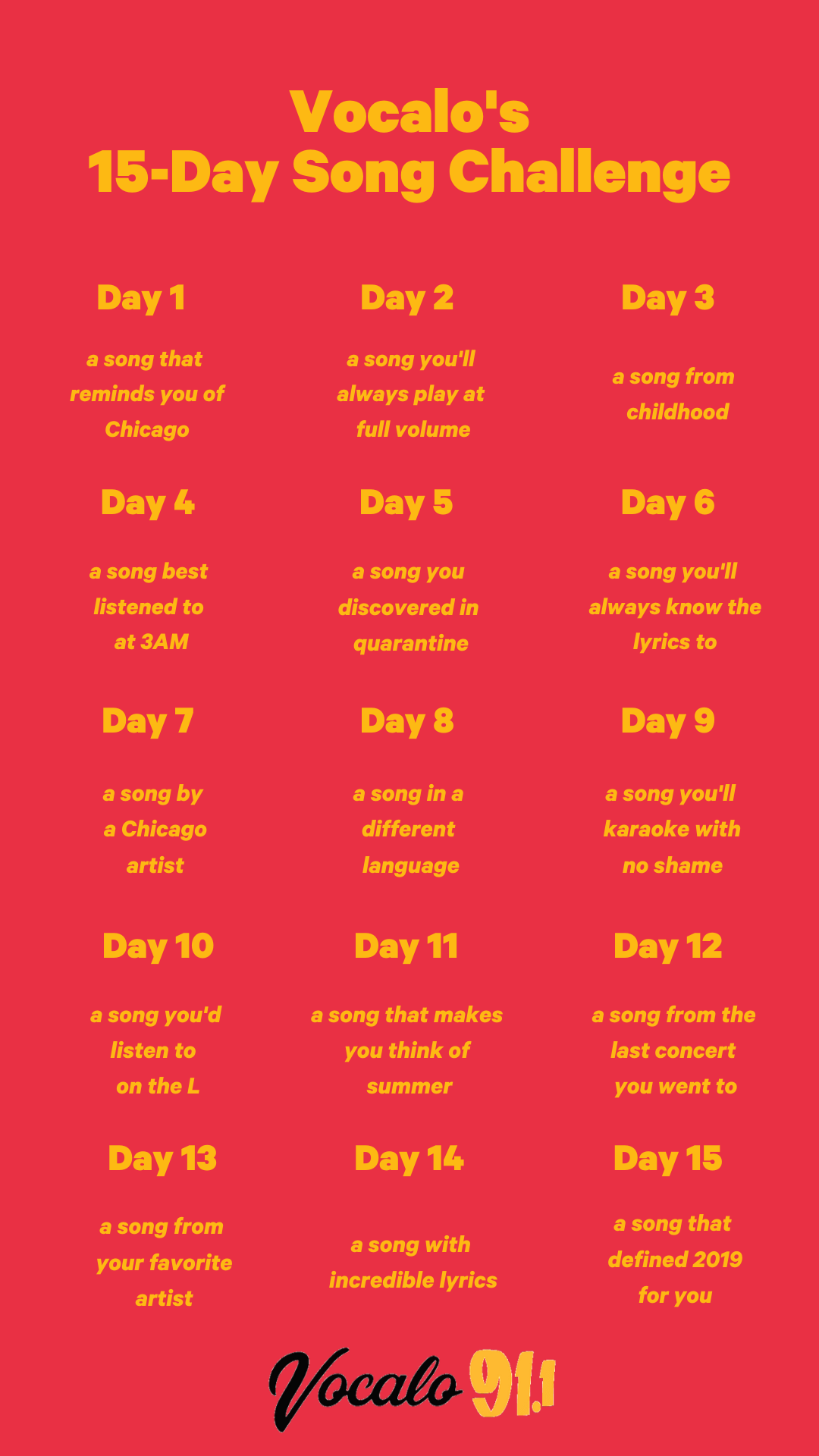 Vocalo's 15-Day Song Challenge