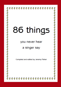 ebook: 86 things you never hear a singer say