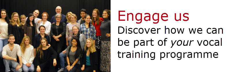 Engage Vocal Process for your vocal training, masterclasses and professional developmen