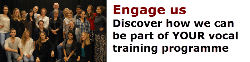 Engage Vocal Process - discover how we can be part of your training programme