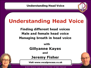 Understanding head voice online training webinar - male and female head voice, managing breath