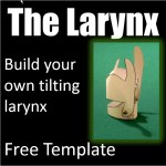 Image of the build your own larynx template