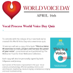 eZINE 77 - World Voice Day Quiz Results