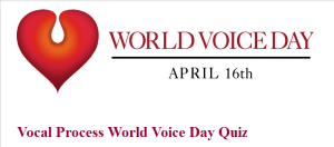 "The opening page of our World Voice Day ""This is a Voice"" quiz"