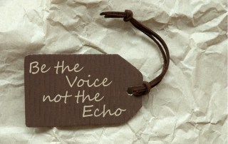 Be the voice not the echo, finding authenticity in singing