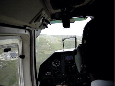 Coming in to land on Alderney, genuine view from my seat!