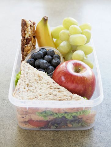 Lunchbox filled with healthy food