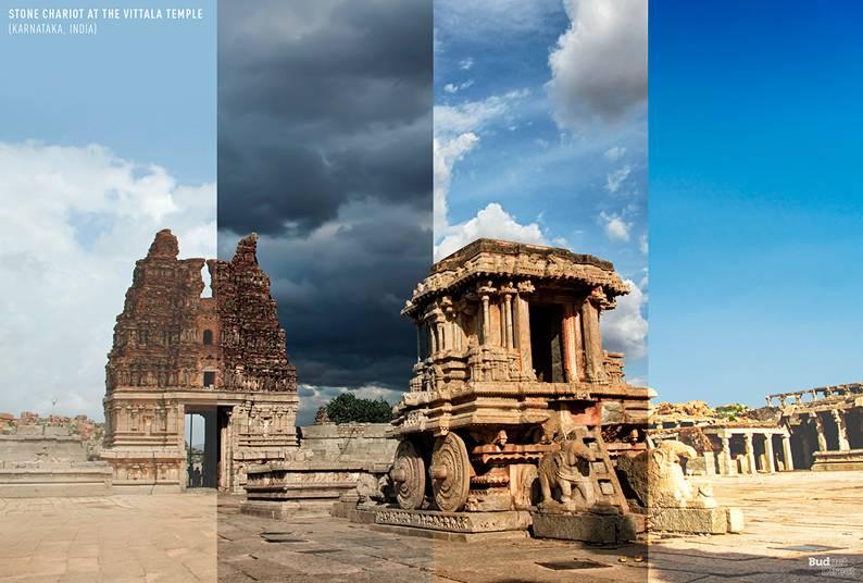 Carruagem de pedra no templo de Vittala (Karnataka, Índia)
