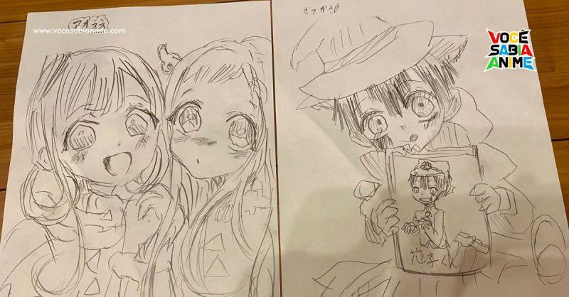 A Filha de 10 anos do Murata começou a desenhar