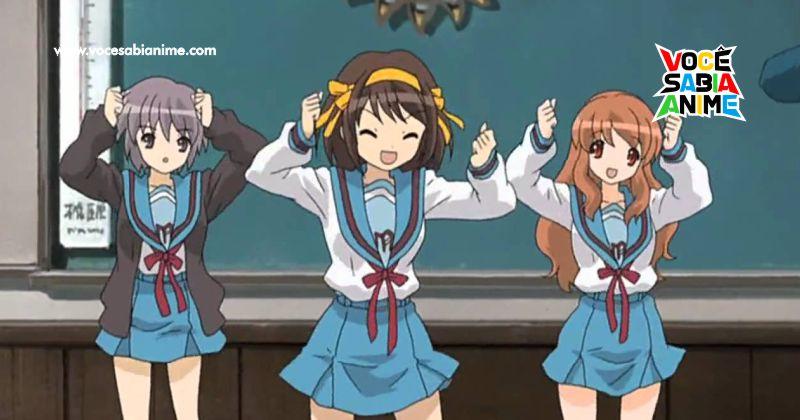 Seiyuus de Suzumiya e Kyon dançam Hare Hare Yukai de Casa