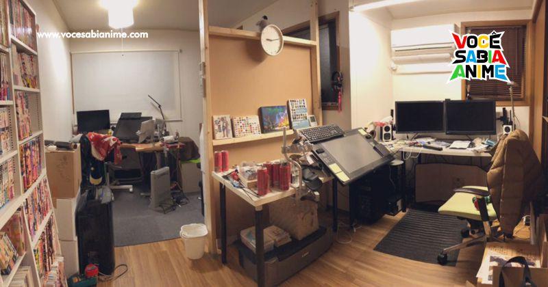 Ilustradores compartilham fotos do Ambiente de Trabalho