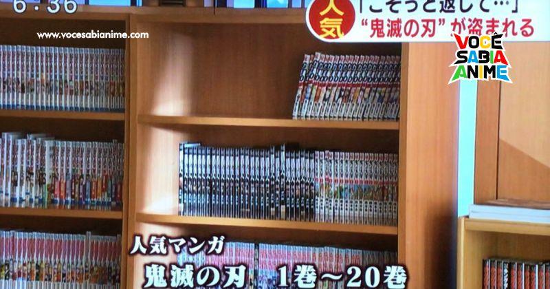 20 Volumes de Kimetsu foram roubados de um Onsen