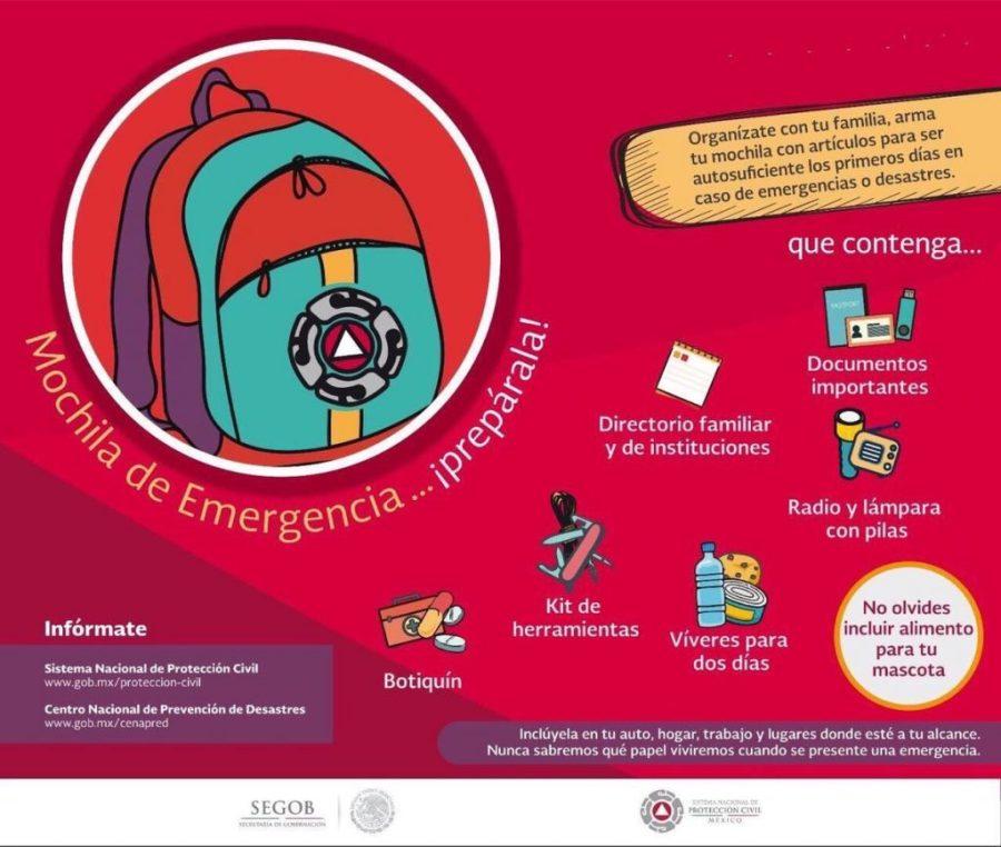 Mochila de emergencia. Luis Felipe Puente