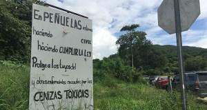 Los vecinos de Tallaboa reactivaron la desobediencia civil para tratar de evitar el paso de camiones con cenizas de carbón hacia el vertedero Peñuelas Valley Landfill, luego de que el Tribunal de Apelaciones autorizara el depósito de este material. (Voces del Sur)