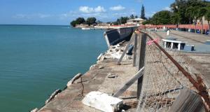 Los trabajos en el Malecón de Santa Isabel atenderán los daños estructurales que enfrenta en la actualidad el frente marítimo.