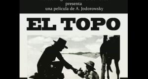 Afiche promocional de la presentación del filme El Topo en Ponce.