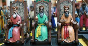 Artesanía basada en los Reyes Magos.