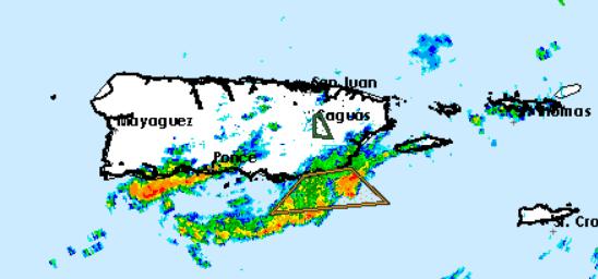 Fuertes aguaceros han afectado la región Sur en las pasadas horas.