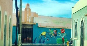 Mural Hechos, del artista villalbeño Jesús Ortiz Torres. (Facebook / Vivien Mattei Colón)