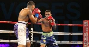 """Carlos """"Purin"""" Caraballo noqueó a Janxel Marrero en el quinto asalto. (Voces del Sur)"""