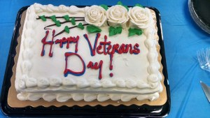 A sweet thank you to our veterans for their service