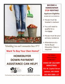 Homebuyer Down Payment Assistance