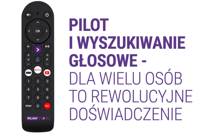 Pilot dołączony do dekodera Play Now TV BOX
