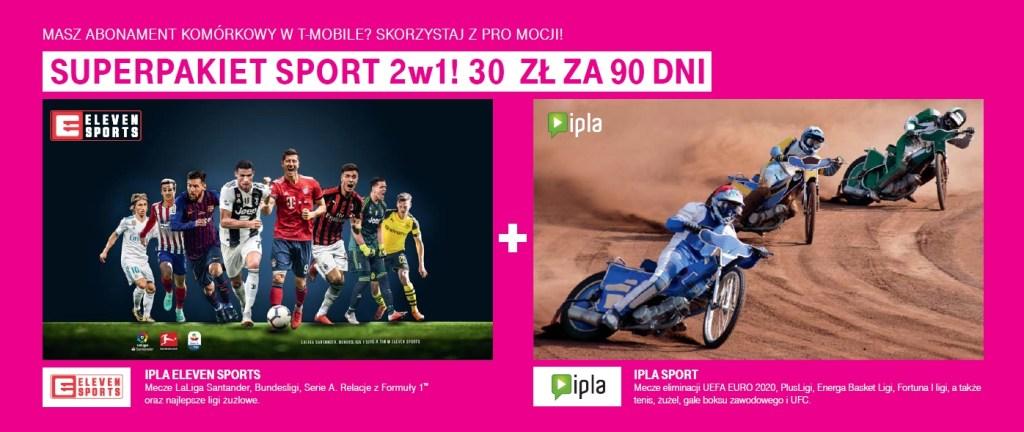 Najlepszy sport dla klientów T-Mobile w ofercie Magenta 1: Eleven Sport i IPLA Sport