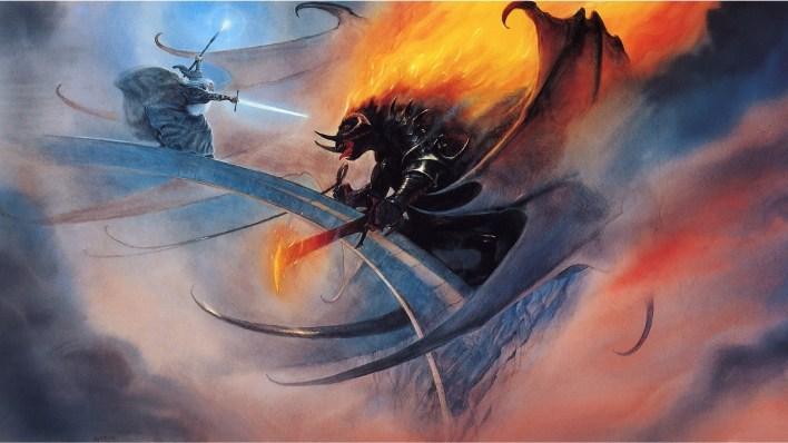 Jeden ze szkiców koncepcyjnych Johna Howego do filmu Władcy Pierścieni