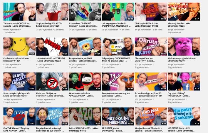 Nowe odcinki na kanale Lekko Stronniczy w serwisie YouTube