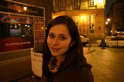 Anka a večerná Budapešť.