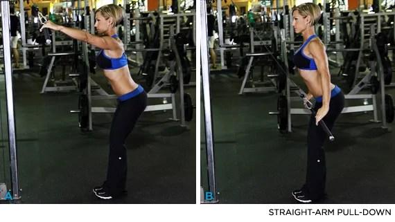 straight arm pulldown uitvoering