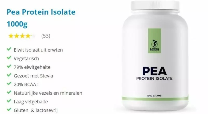 pea protein isolate ervaring